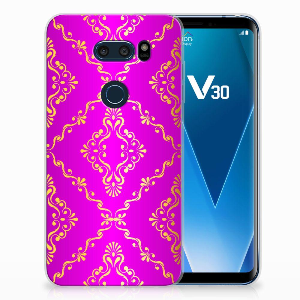 LG V30 Uniek TPU Hoesje Barok Roze