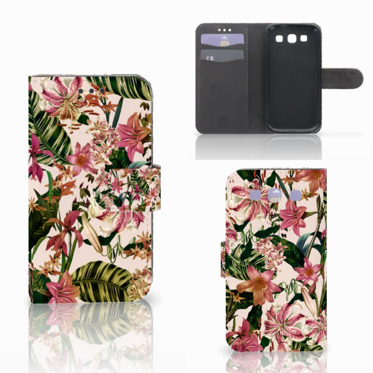 Samsung Galaxy S3 i9300 Hoesje Flowers
