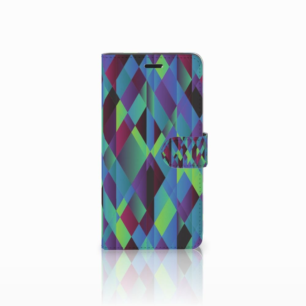 Wiko Pulp Fab 4G Bookcase Abstract Green Blue