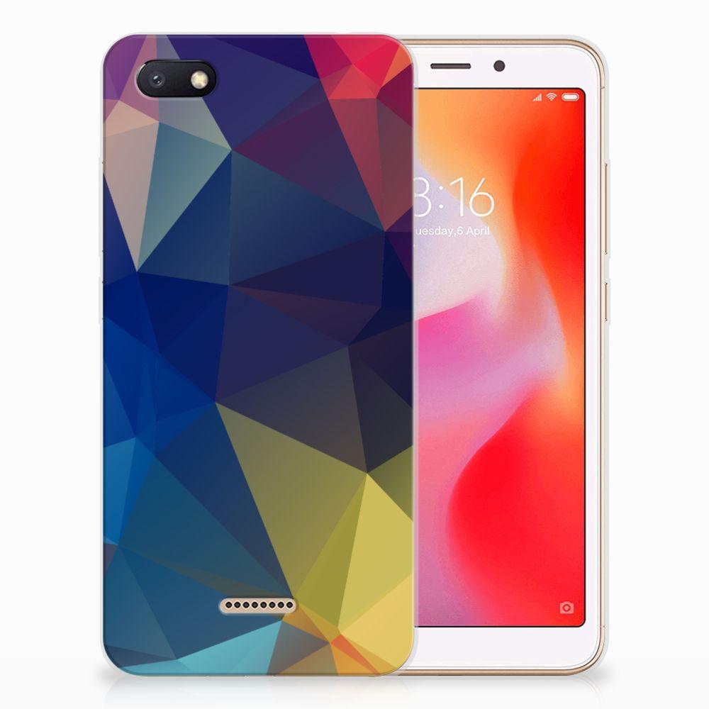 Xiaomi Redmi 6A TPU Hoesje Polygon Dark