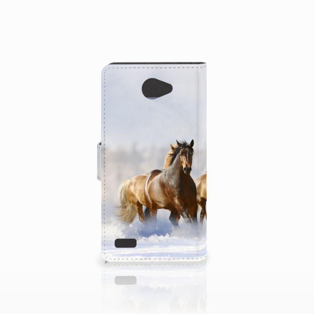 LG Bello 2 Telefoonhoesje met Pasjes Paarden