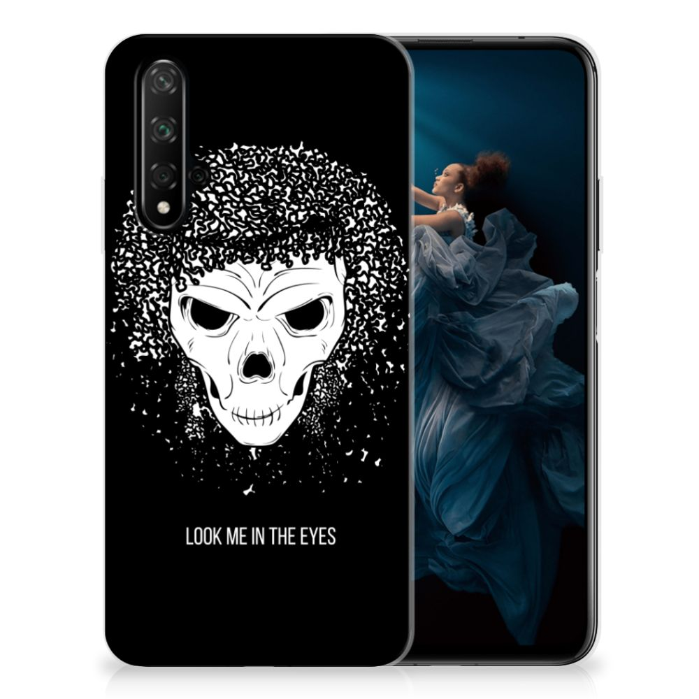 Silicone Back Case Honor 20 Skull Hair