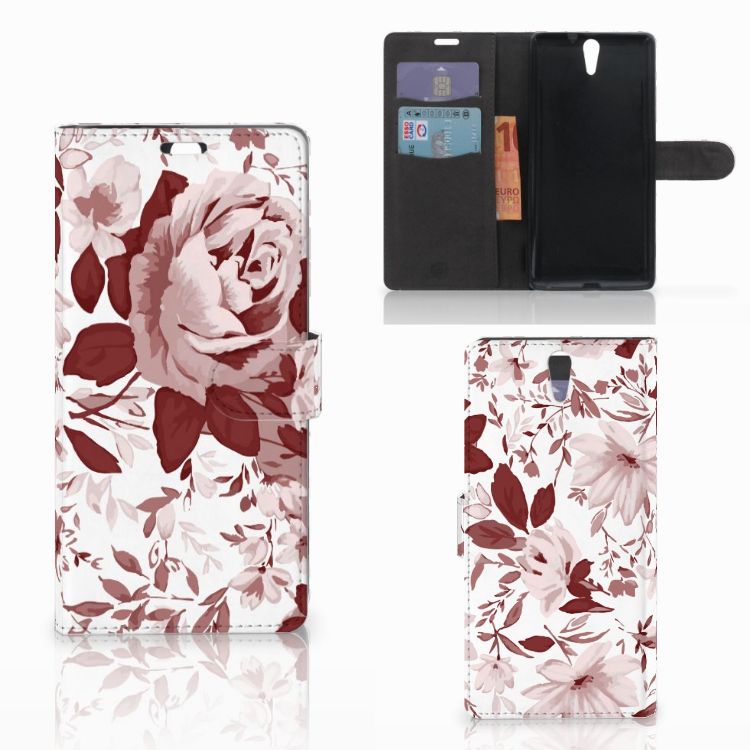 Hoesje Sony Xperia C5 Ultra Watercolor Flowers