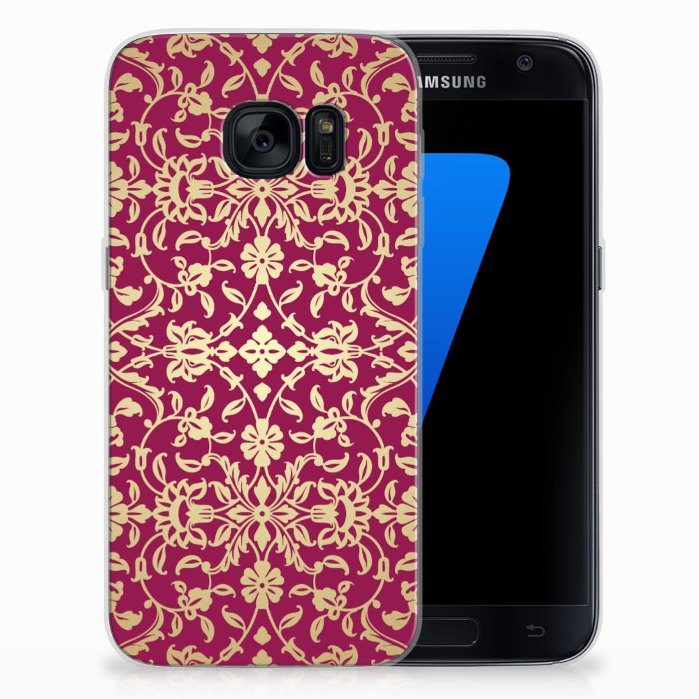 Siliconen Hoesje Samsung Galaxy S7 Barok Pink