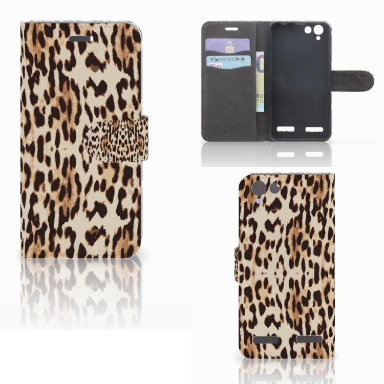 Lenovo Vibe K5 Telefoonhoesje met Pasjes Leopard