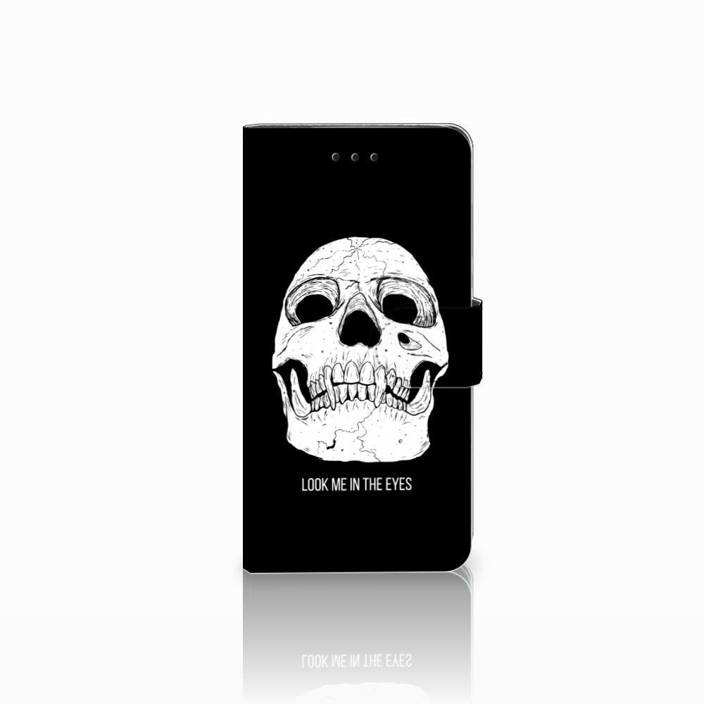 Huawei Y5 2018 Uniek Boekhoesje Skull Eyes
