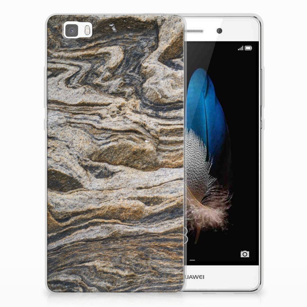 Huawei Ascend P8 Lite TPU Siliconen Hoesje Steen