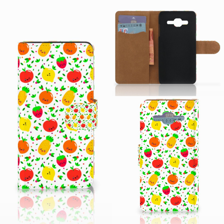 Samsung Galaxy J2 2016 Book Cover Fruits