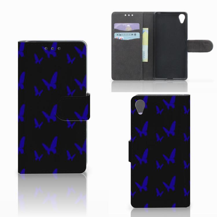 Sony Xperia X Telefoon Hoesje Vlinder Patroon
