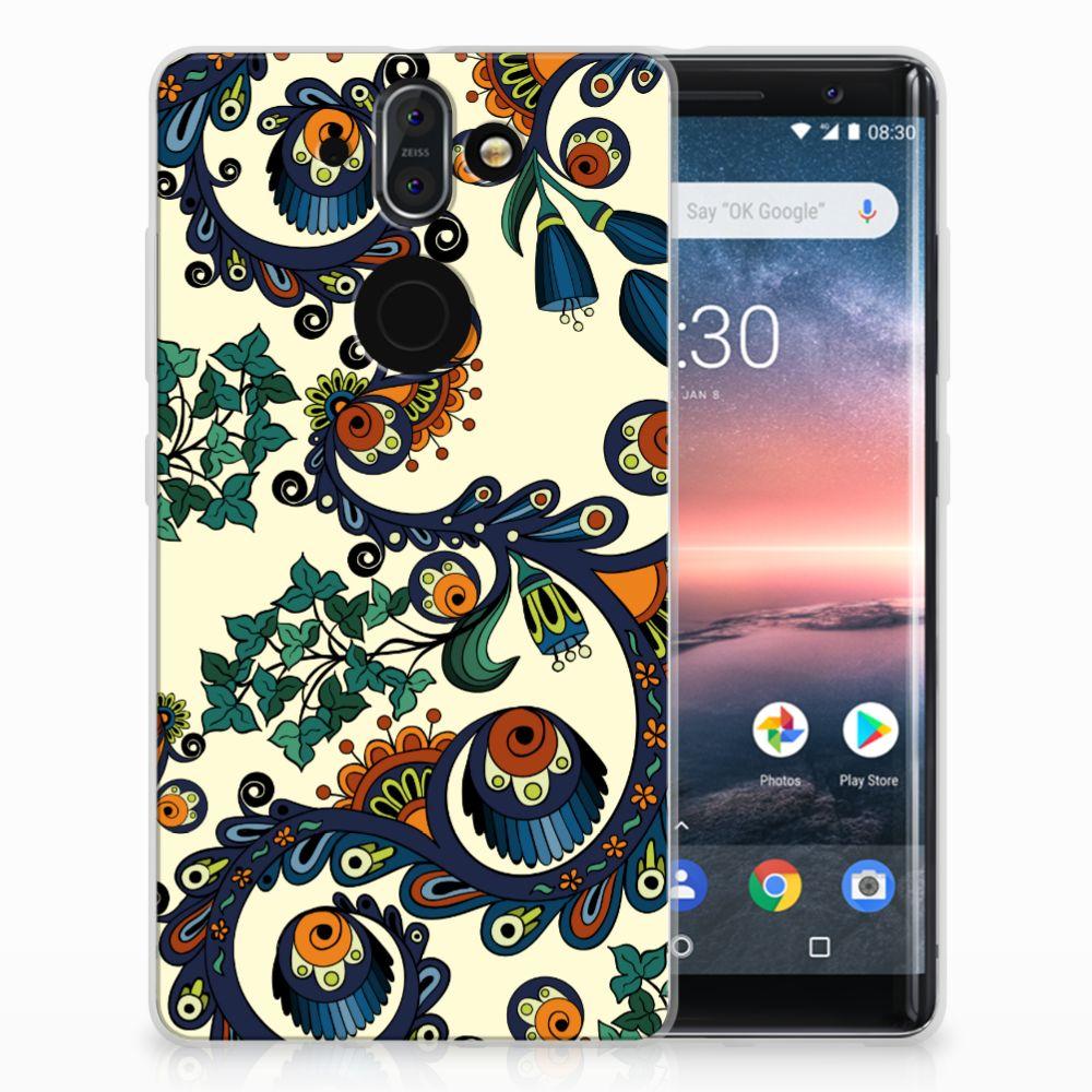 Nokia 9 | 8 Sirocco TPU Hoesje Design Barok Flower