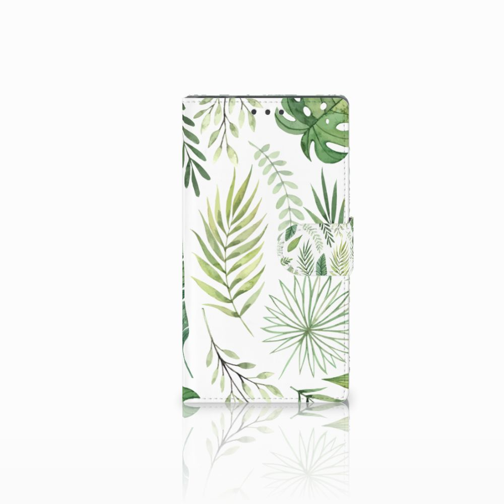 Samsung Galaxy Note 4 Uniek Boekhoesje Leaves
