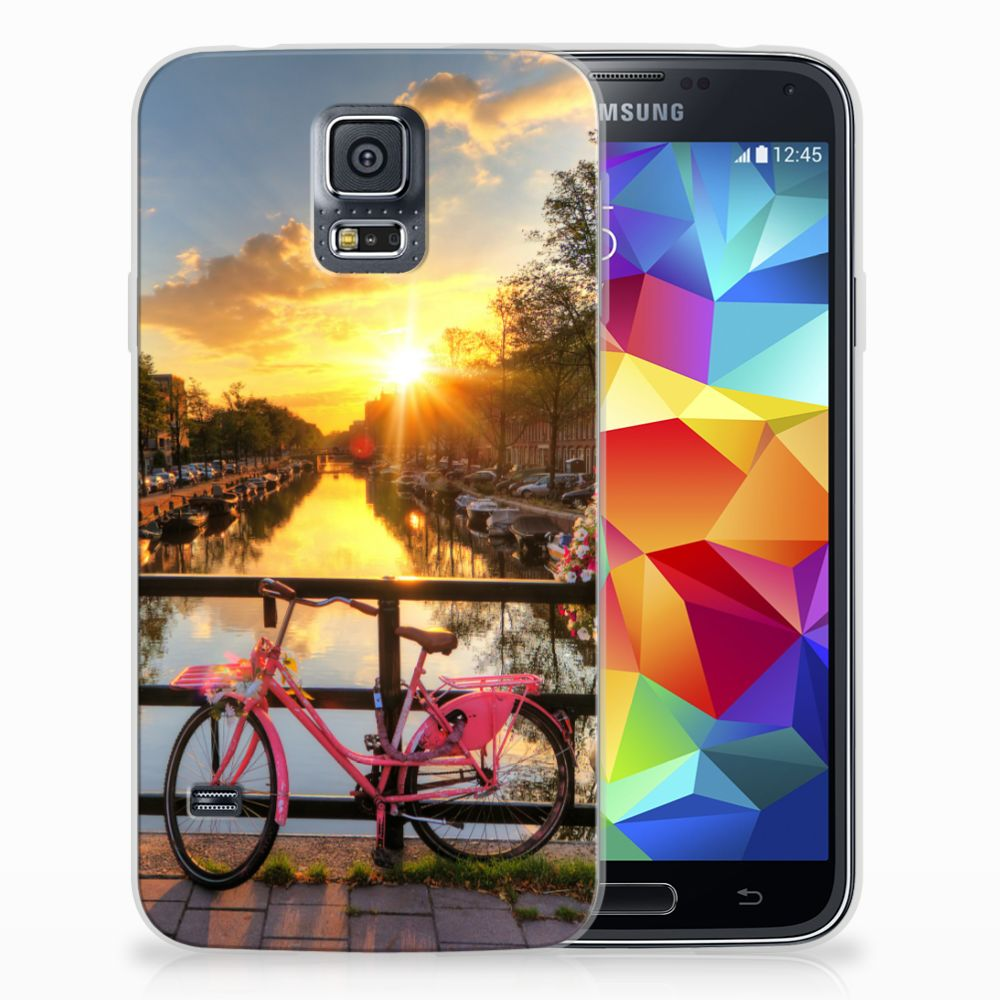 Samsung Galaxy S5 Uniek TPU Hoesje Amsterdamse Grachten
