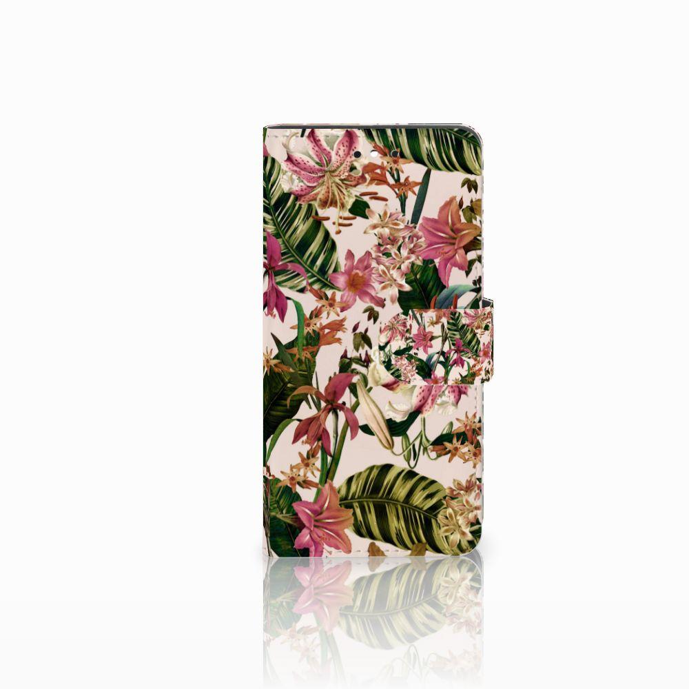 Huawei P8 Lite Smart (GR3) Uniek Boekhoesje Flowers