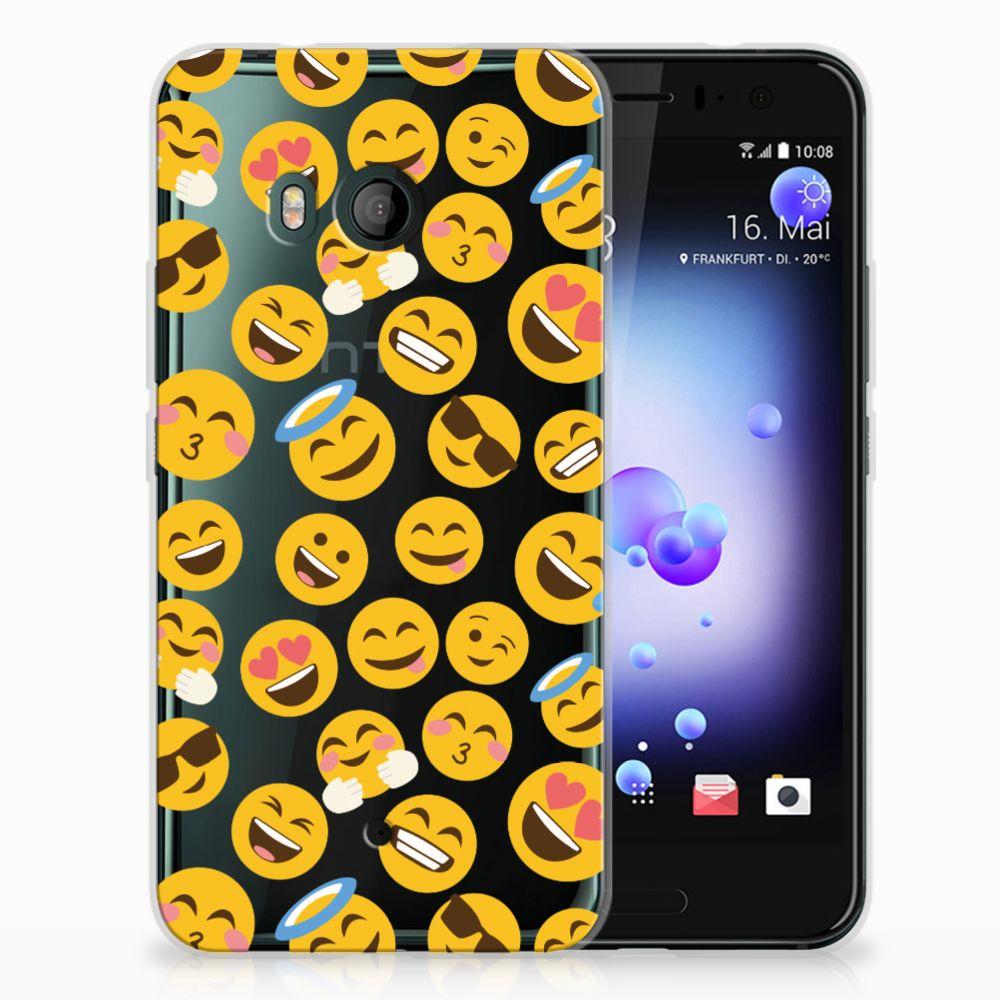 HTC U11 TPU Hoesje Design Emoji