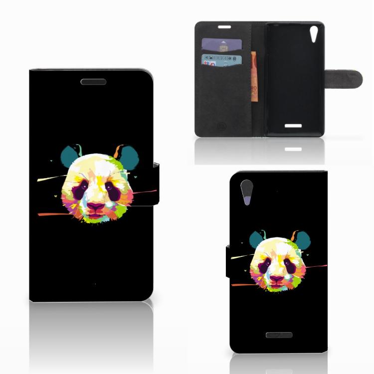 Sony Xperia T3 Leuk Hoesje Panda Color