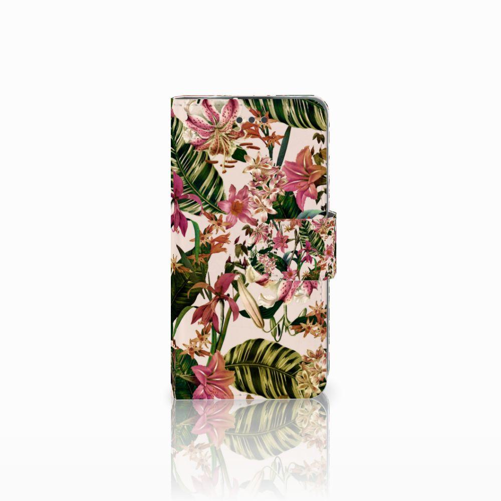 LG L70 Uniek Boekhoesje Flowers