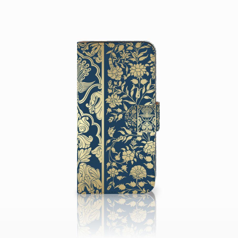 Samsung Galaxy E5 Boekhoesje Golden Flowers