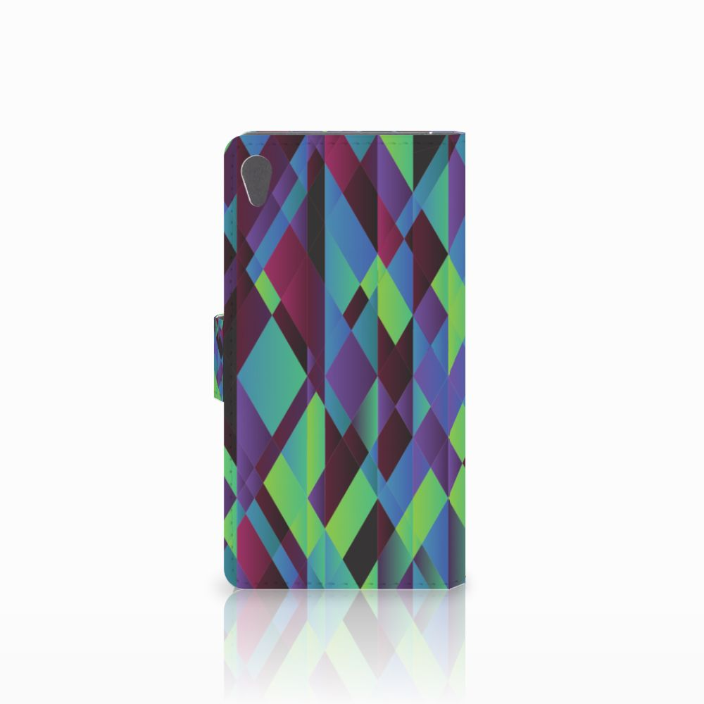 Sony Xperia E5 Bookcase Abstract Green Blue