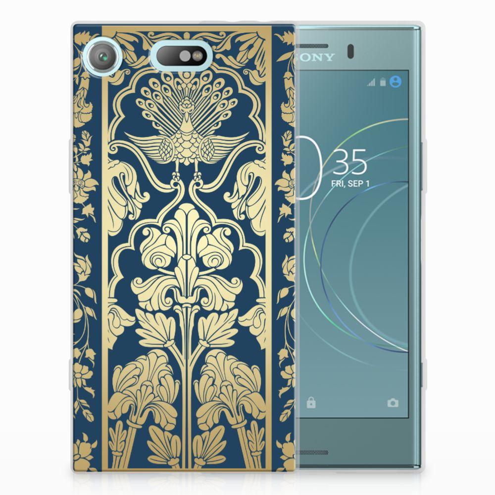 Sony Xperia XZ1 Compact TPU Hoesje Golden Flowers