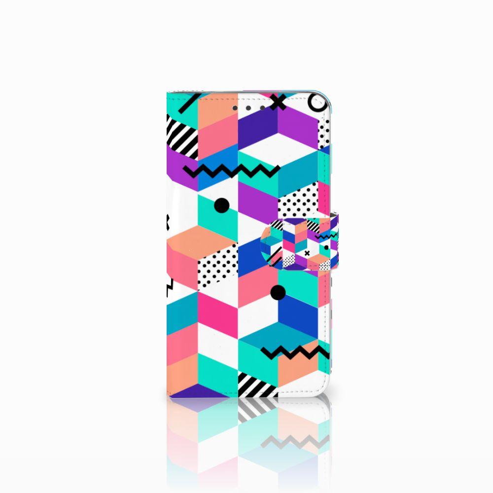 Motorola Moto E4 Plus Bookcase Blokken Kleurrijk