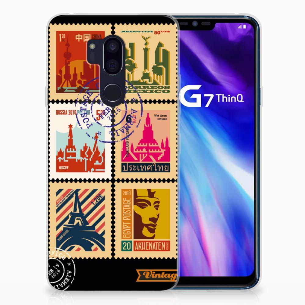 LG G7 Thinq Uniek TPU Hoesje Postzegels