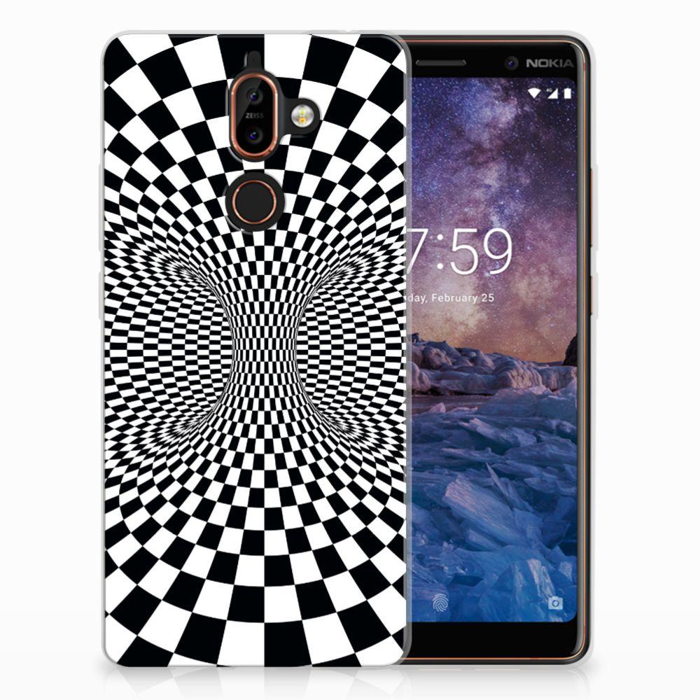 Nokia 7 Plus TPU Hoesje Illusie