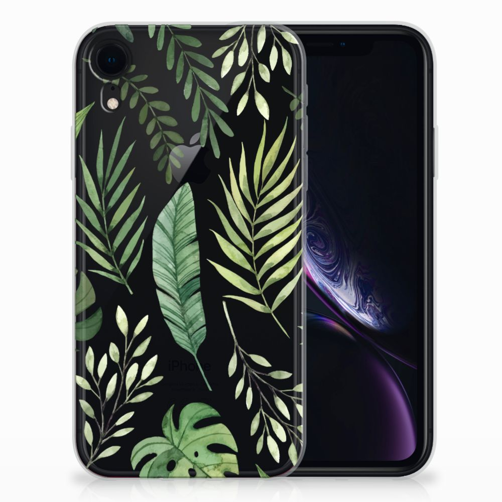 Apple iPhone Xr TPU Case Leaves