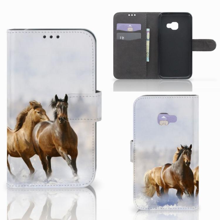 Samsung Galaxy Xcover 4   Xcover 4s Telefoonhoesje met Pasjes Paarden