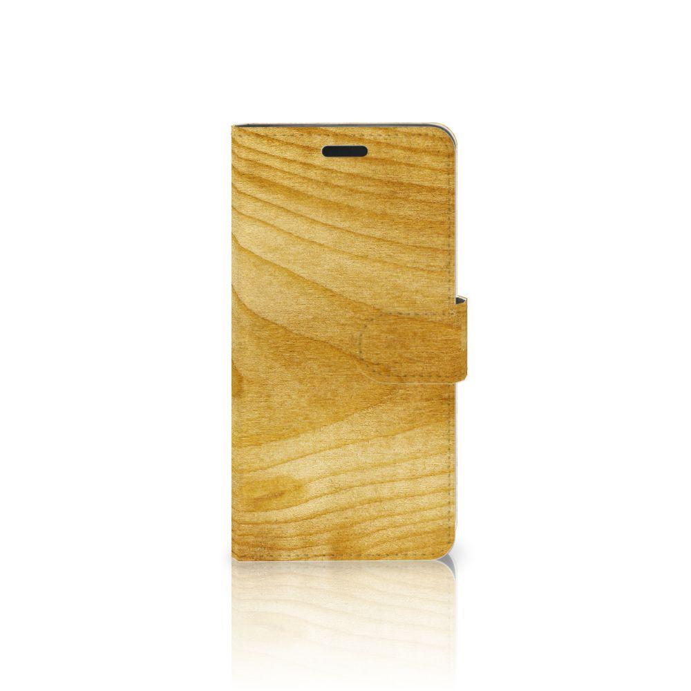 HTC 10 Uniek Boekhoesje Licht Hout
