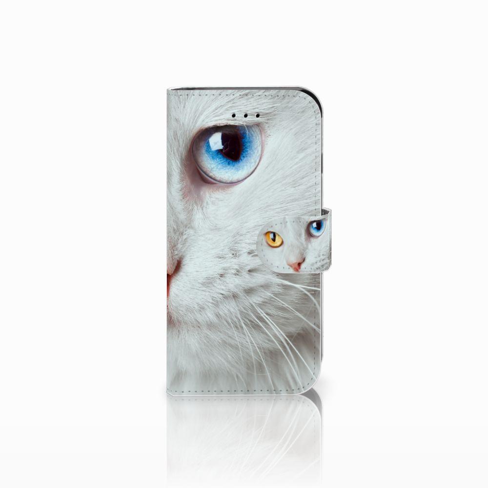 Apple iPhone 6 | 6s Uniek Boekhoesje Witte Kat