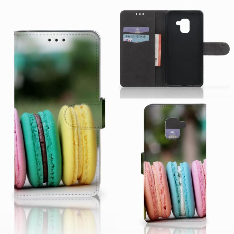 Samsung Galaxy A8 2018 Book Cover Macarons
