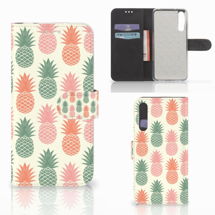 Huawei P20 Pro Book Cover Ananas