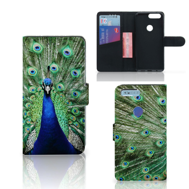 OnePlus 5T Telefoonhoesje met Pasjes Pauw