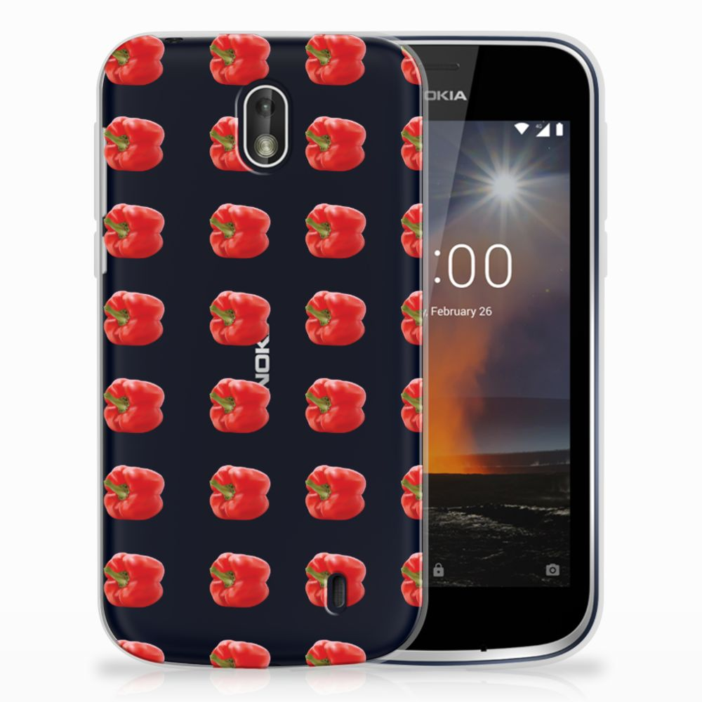 Nokia 1 Siliconen Case Paprika Red