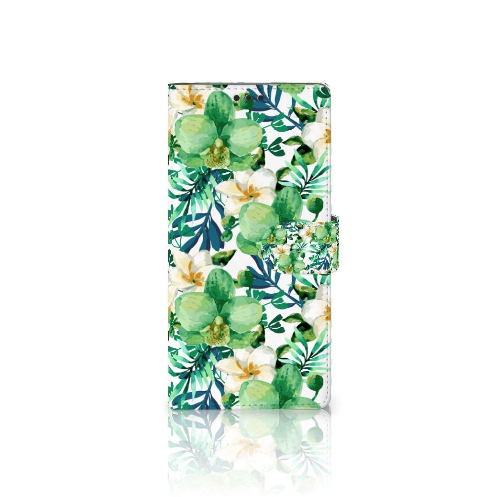 Sony Xperia XA Ultra Uniek Boekhoesje Orchidee Groen