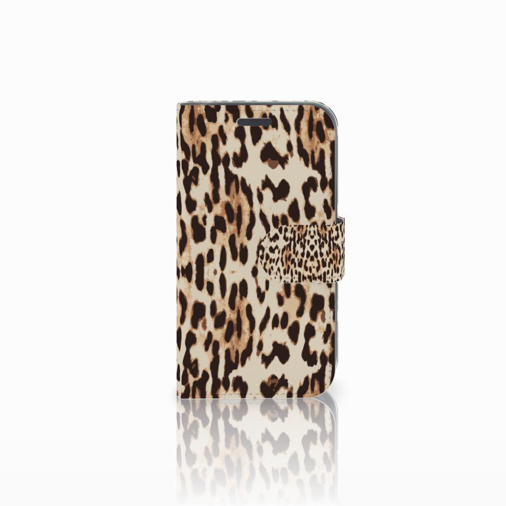 Samsung Galaxy J1 2016 Uniek Boekhoesje Leopard