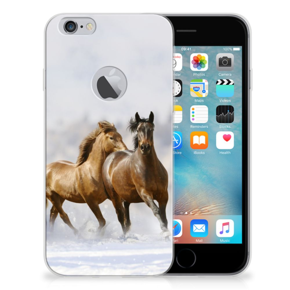 Apple iPhone 6 Plus | 6s Plus Uniek TPU Hoesje Paarden