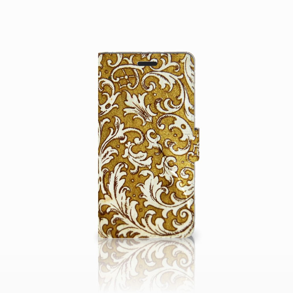 Samsung Galaxy A7 2015 Boekhoesje Design Barok Goud