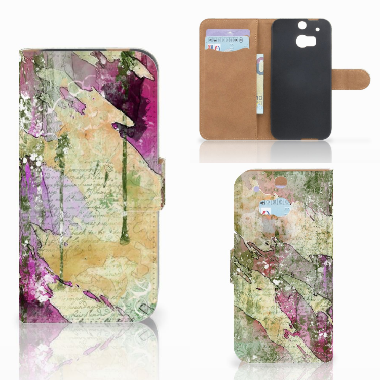 Hoesje HTC One M8 Letter Painting