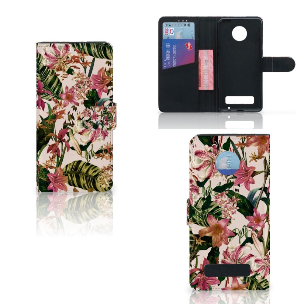 Motorola Moto Z Play Hoesje Flowers