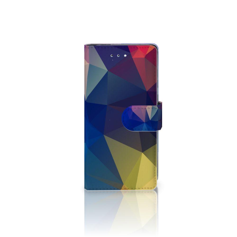 Huawei P9 Uniek Boekhoesje Polygon Dark