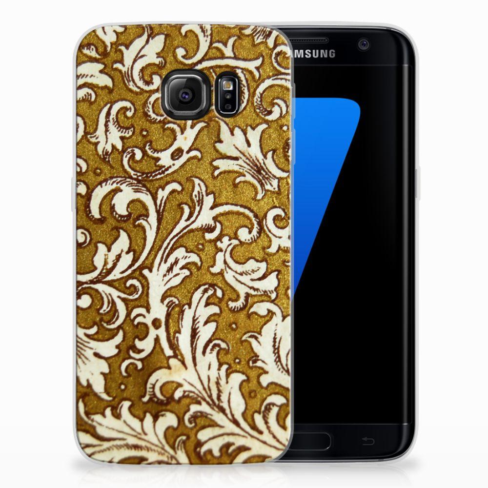 Siliconen Hoesje Samsung Galaxy S7 Edge Barok Goud