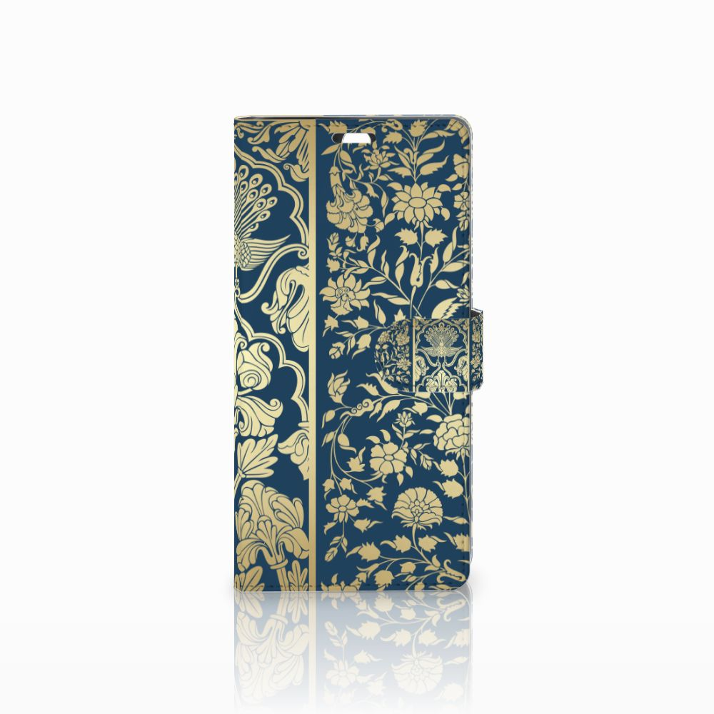 Sony Xperia C5 Ultra Boekhoesje Golden Flowers