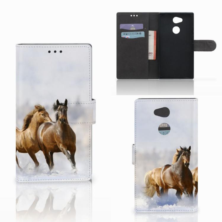 Sony Xperia L2 Telefoonhoesje met Pasjes Paarden