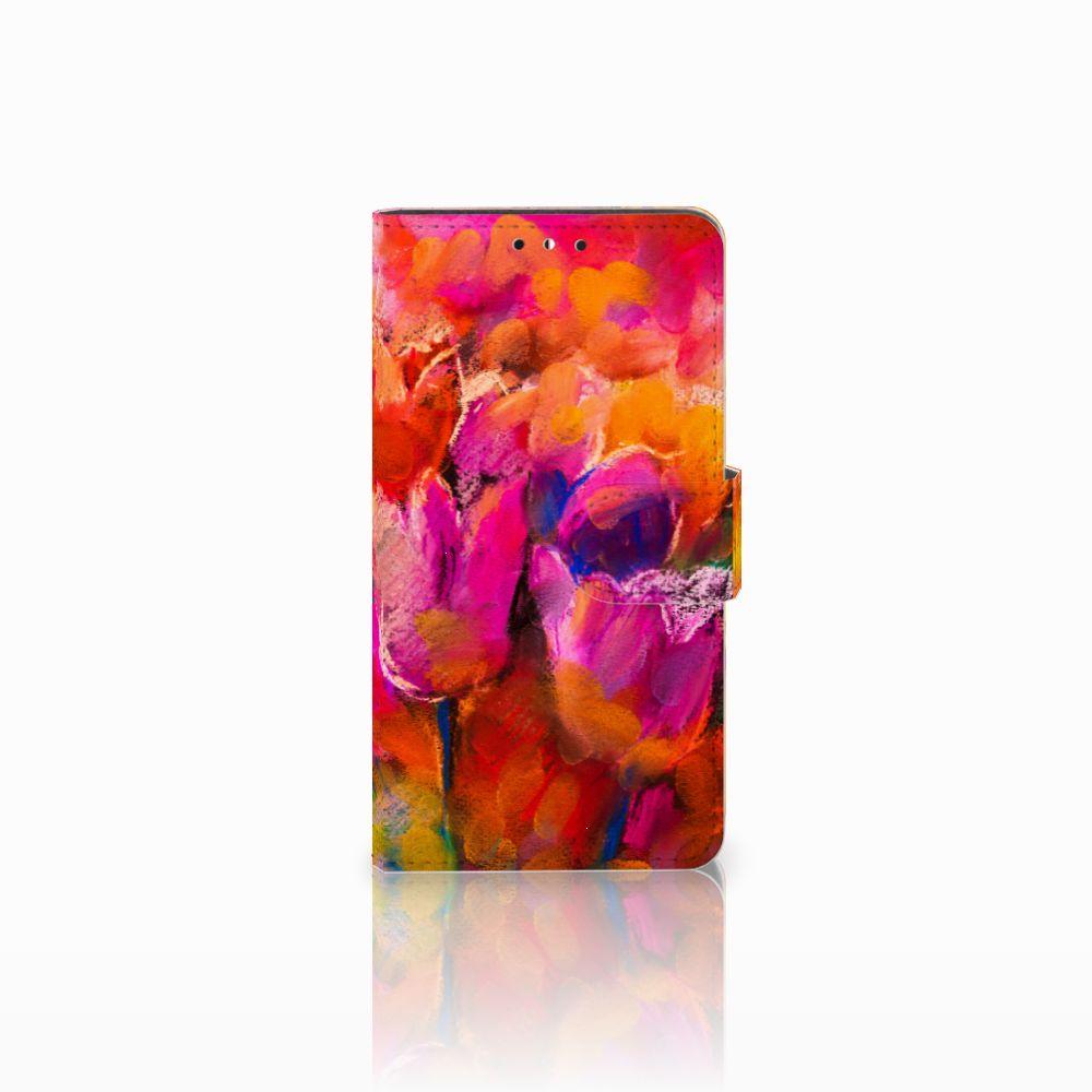 Huawei Y5   Y6 2017 Boekhoesje Design Tulips
