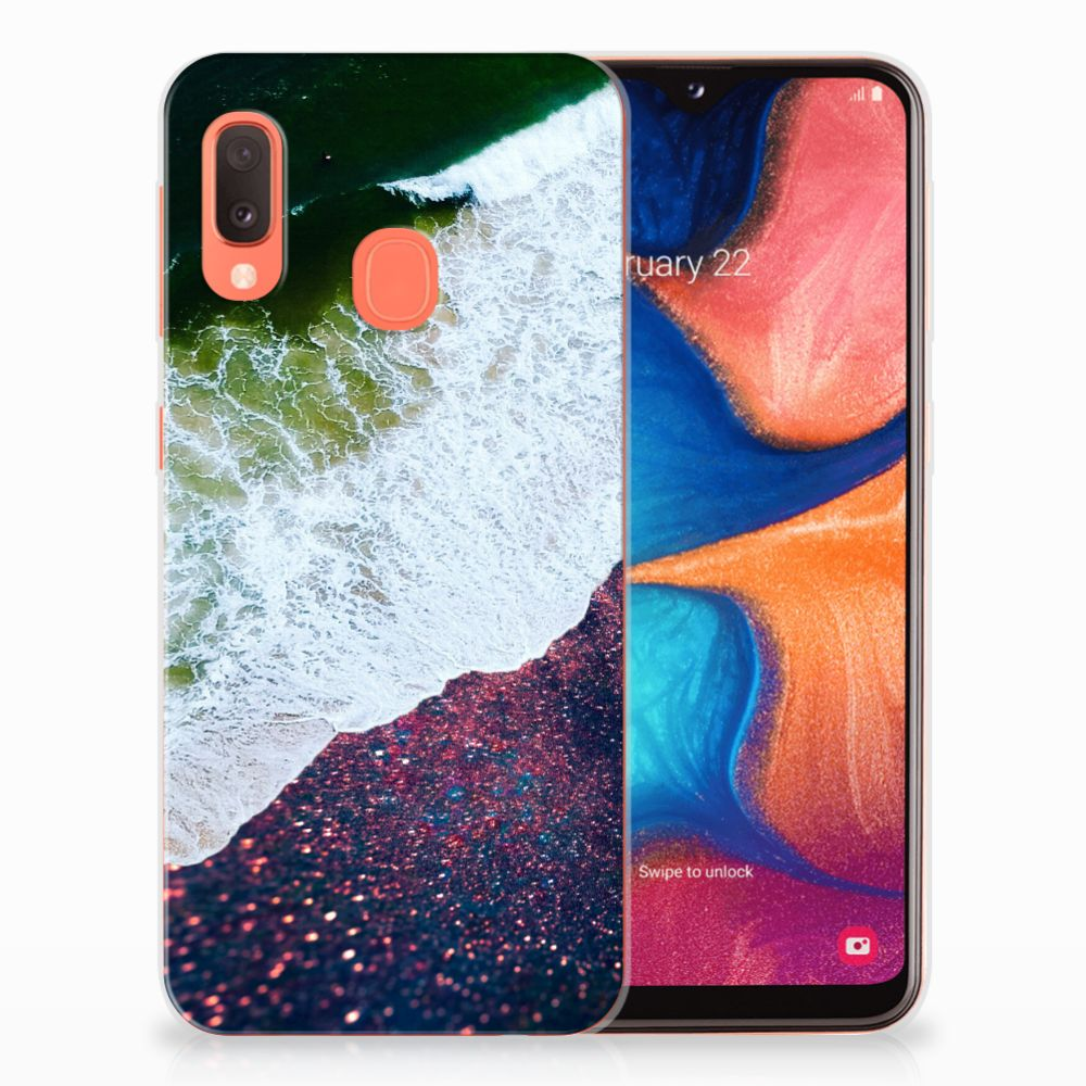 Samsung Galaxy A20e TPU Hoesje Sea in Space