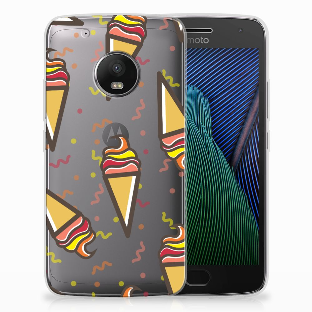 Motorola Moto G5 Plus Siliconen Case Icecream