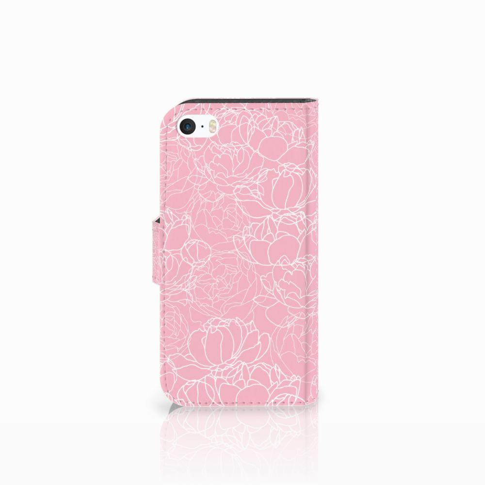 Apple iPhone 5 | 5s | SE Hoesje White Flowers