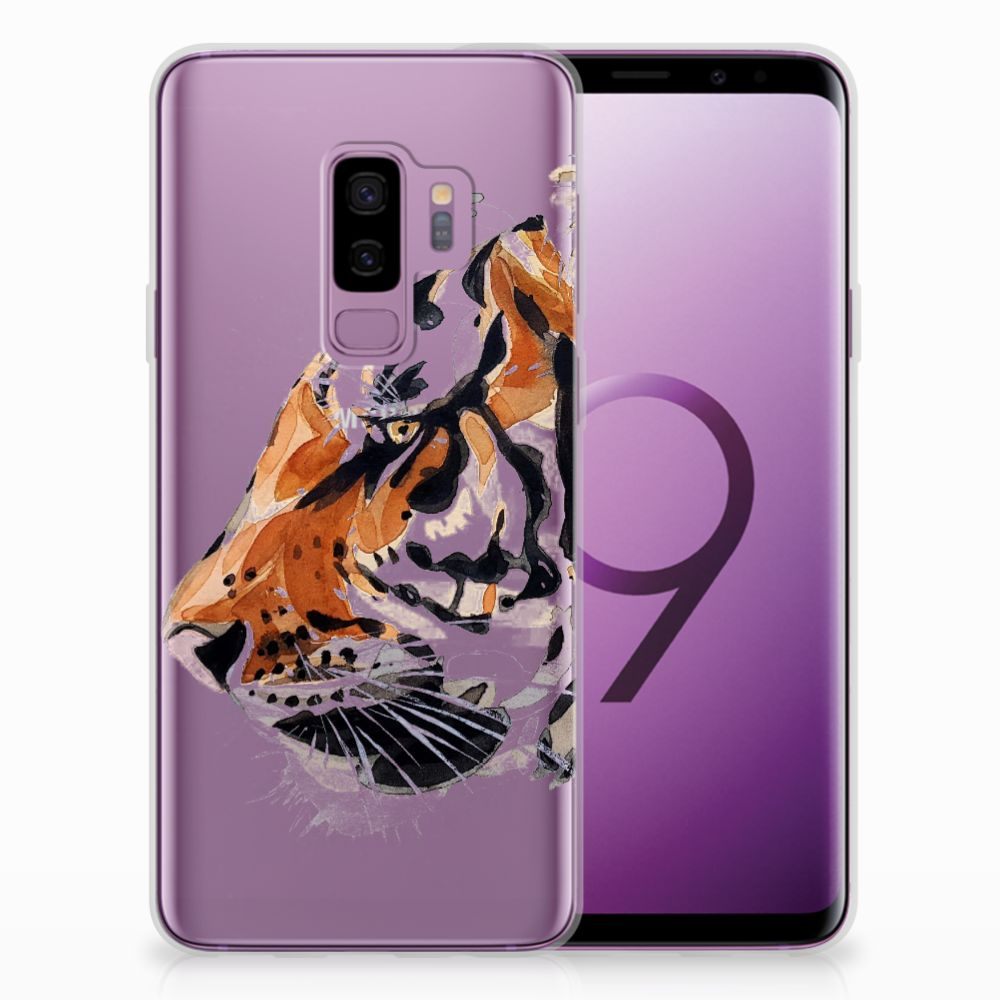 Samsung Galaxy S9 Plus Uniek TPU Hoesje Watercolor Tiger