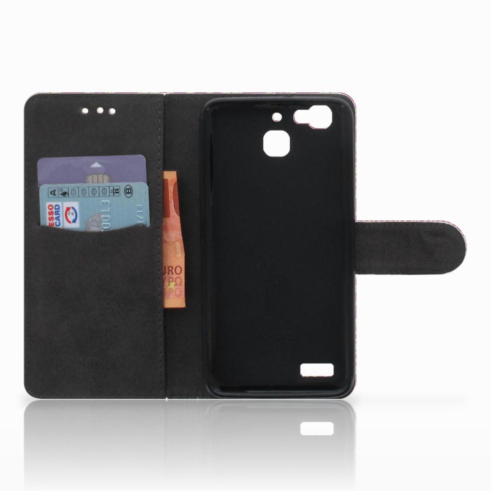 Wallet Case Huawei P8 Lite Smart (GR3) Barok Pink